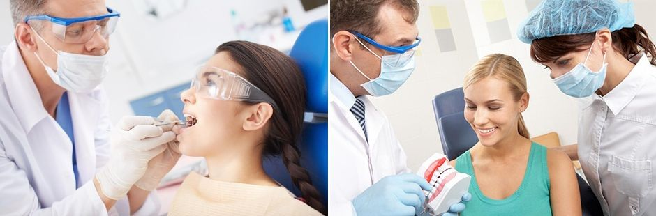 Девушка на приеме у врача-ортодонта